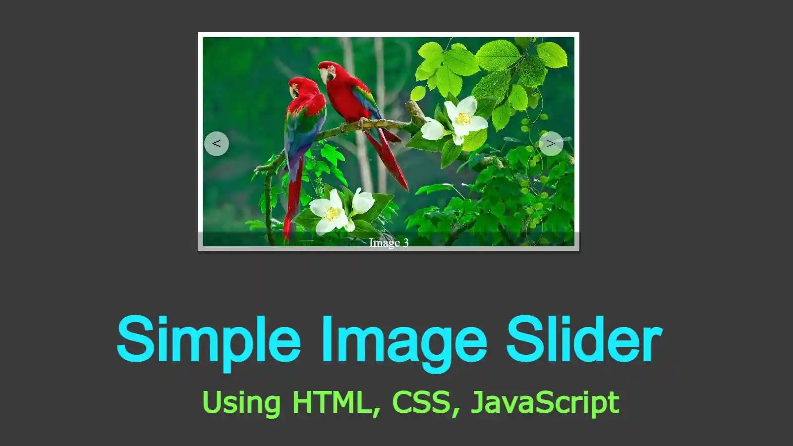 Creating Image Slider Using HTML, CSS, and javaScript