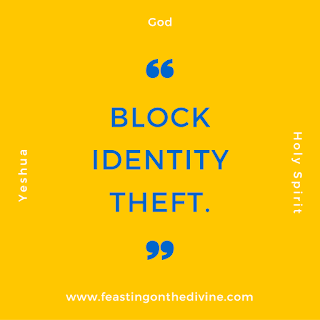 Block Identity Theft blog post on Feasting on the Divine by Trinka Polite