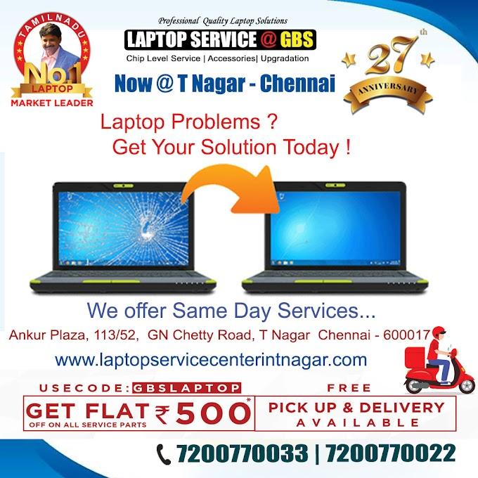 Laptop Repair Center T Nagar Chennai