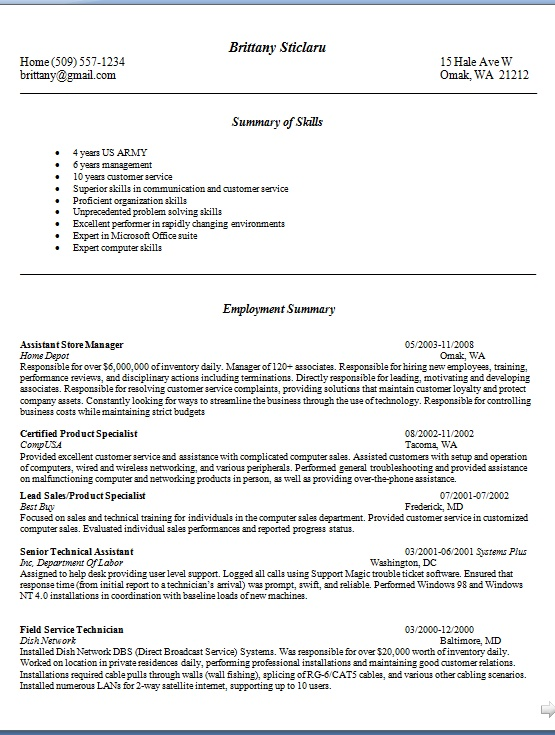 assistant store manager resume pattern in word format free download