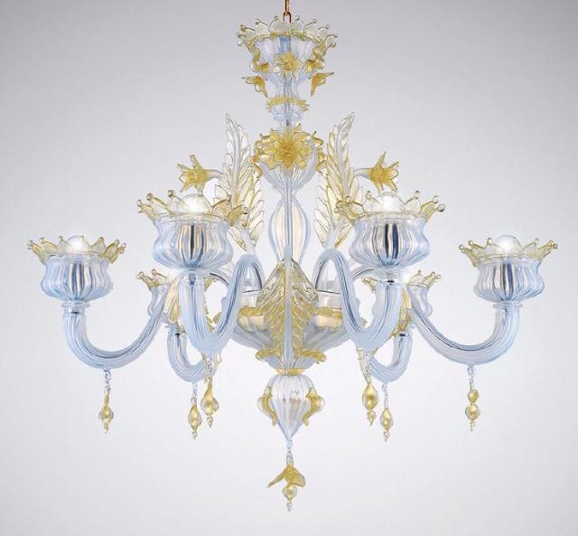 puccini-lamurrina-trasparente-oro-murano-lampadario-opalino