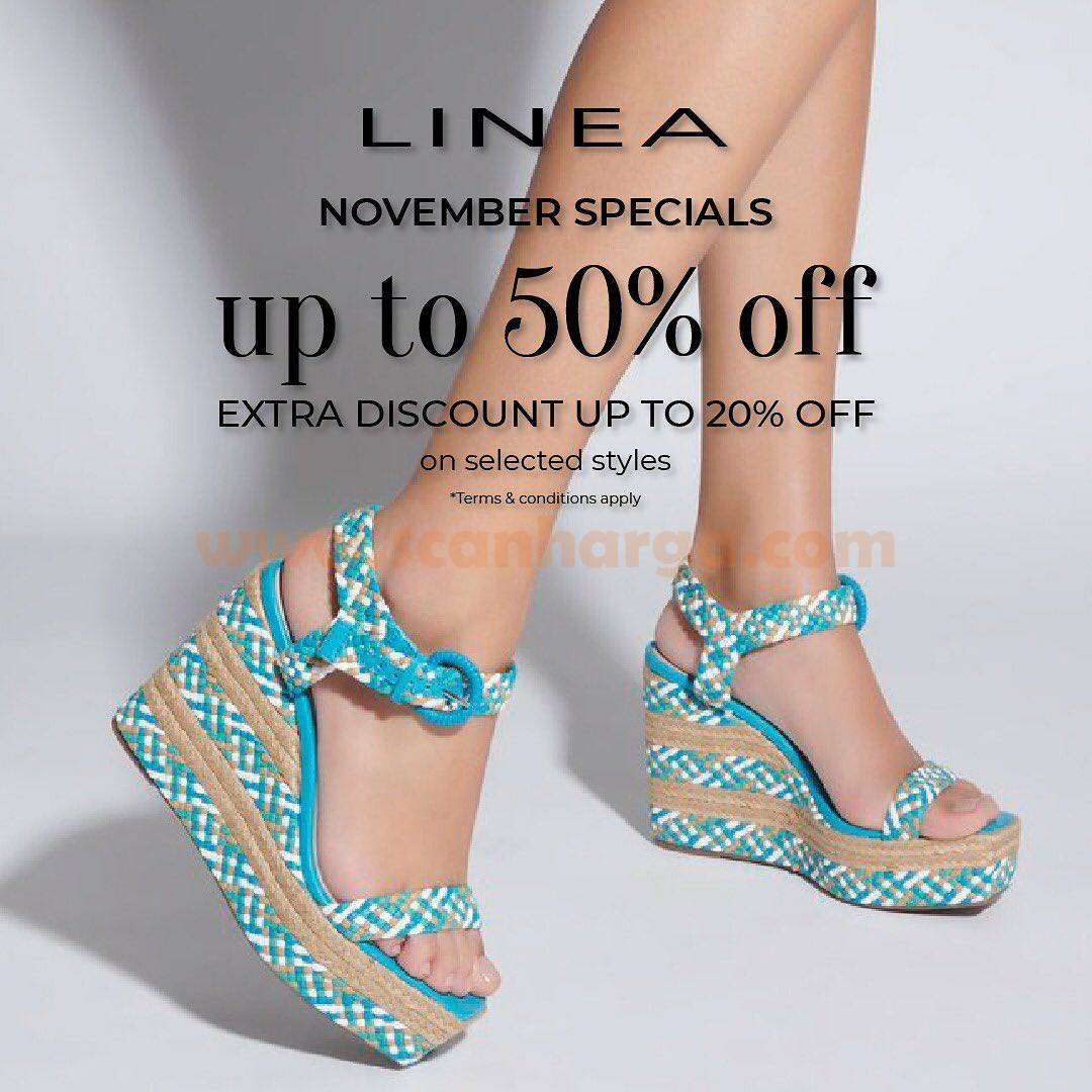 LINEA November Specials Discount Up to 50% + Extra Discount Up to 20%