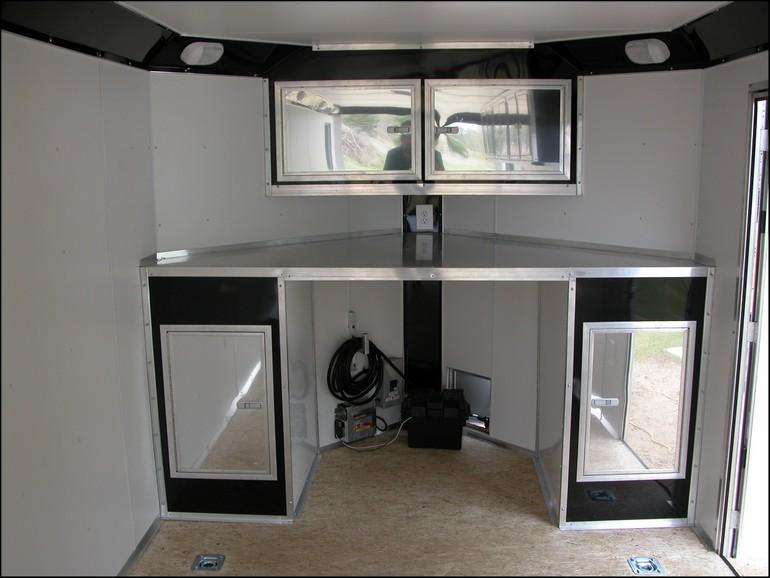 V Nose Enclosed Trailer Cabinets