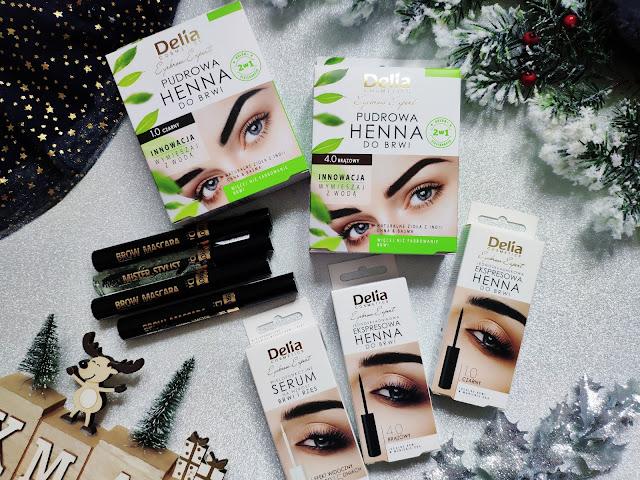 Nowości Delia - Henna pudrowa, Henna ekspresowa i maskary do rzęs