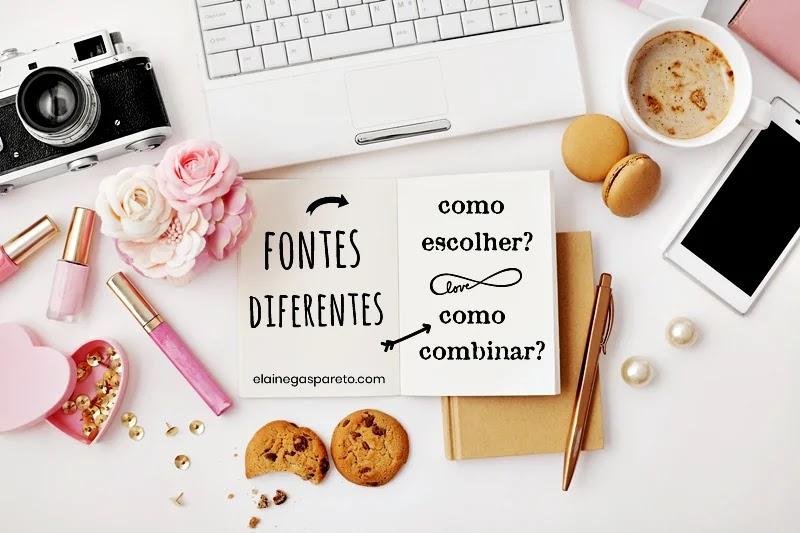 Como combinar fontes diferentes nas edições do blog?