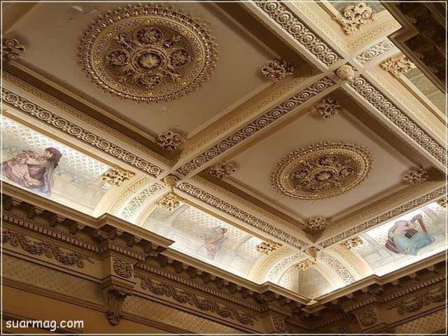 ديكورات جبس اسقف راقيه كلاسيك 8   Classic Gypsum Ceiling 8