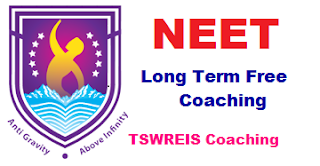 TSWREIS NEET long Term Free Coaching Admissions 2018-2019 Online Application Form, Hall ticket, selection list and Merit list Download