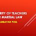 Majority of teachers favor Martial Law - Deped Tambayan Poll