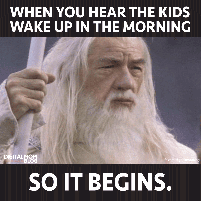 When you heard kids in morning