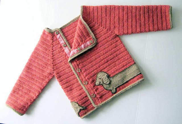 Dachshund baby jacket Crochet pattern