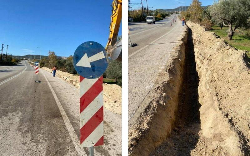 Ξεκίνησαν οι εργασίες αντικατάστασης δικτύου ύδρευσης στο 9ο χλμ Αλεξανδρούπολης - Μάκρης