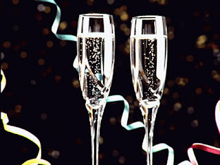 Champagne glasses for celebration