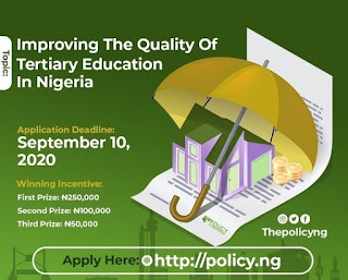 2020 Policy Competition for Undergraduate Students | Up to N250,000