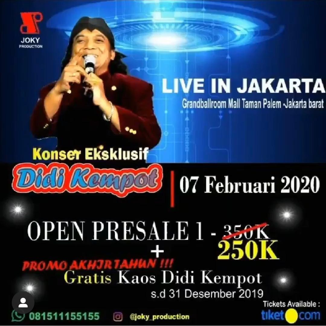 Konser Ambyar Didi Kempot Jakarta Grandballroom Taman Palem