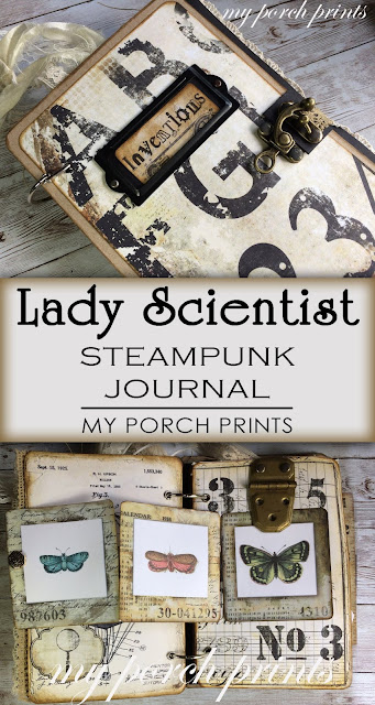 Lady Scientist Steampunk Junk Journal by My Porch Prints