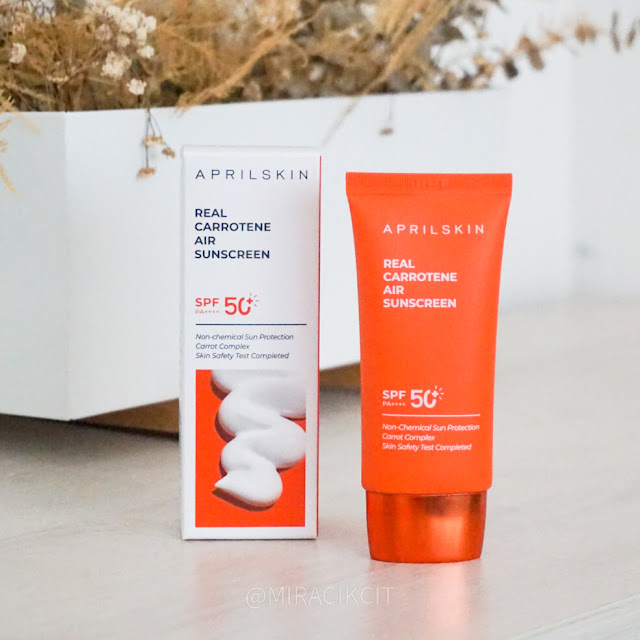 Aprilskin Real Carrotene Air Sunscreen Review