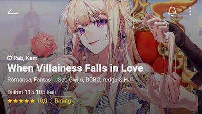 When Villainess Falls in Love Manhwa