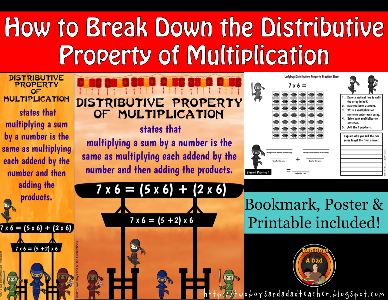 break down the distributive property of multiplication