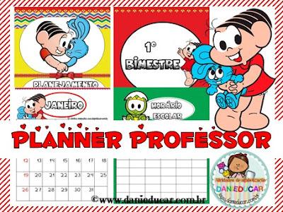 BNCC, caderno de planejamento, Ensino fundamental, planejamento pedagógico, Planner para professores, rotina, turma da monica,