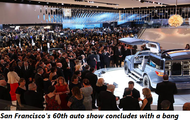 San Francisco's 60th auto show concludes with a bang