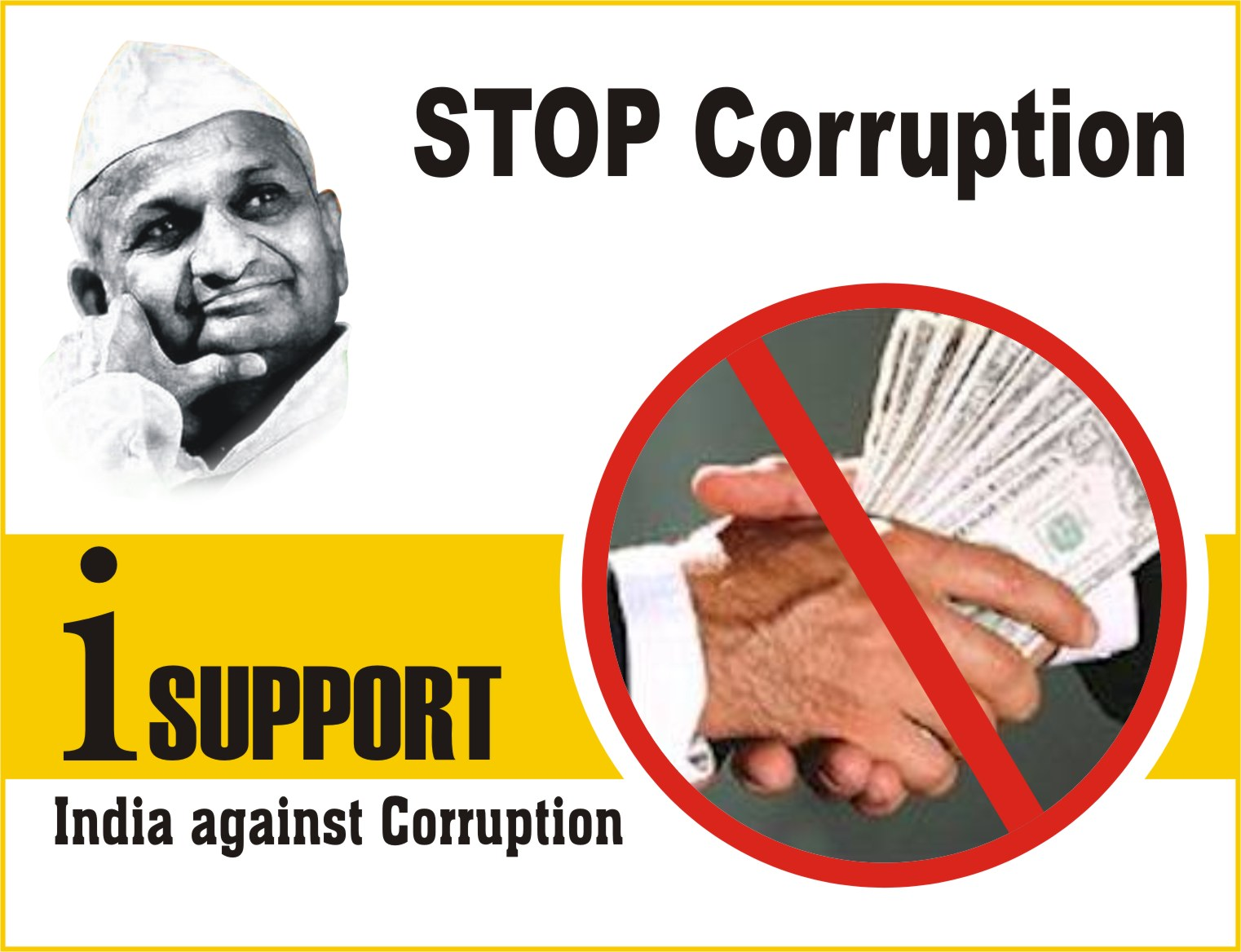 Overcome corruption in india