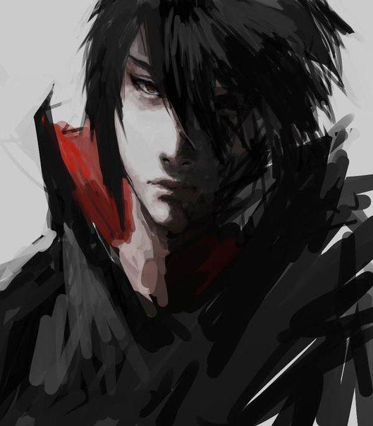 lukisan sasuke uchiha