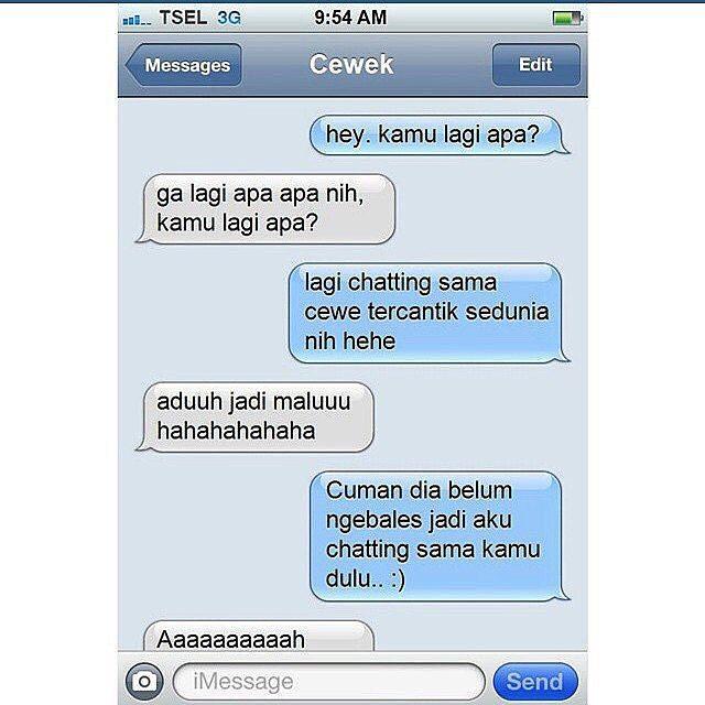 Kumpulan Gambar Chat Lucu Gokil Kocak