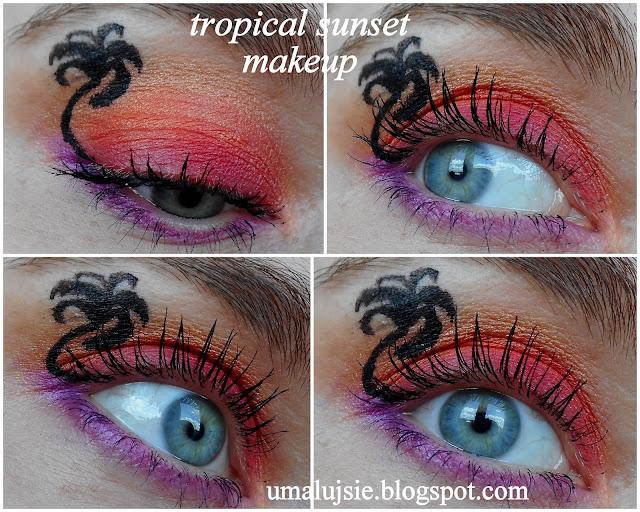 Odbiła mi palma czyli MAKIJAŻ WAKACJE W TROPIKACH/tropical sunset makeup :)