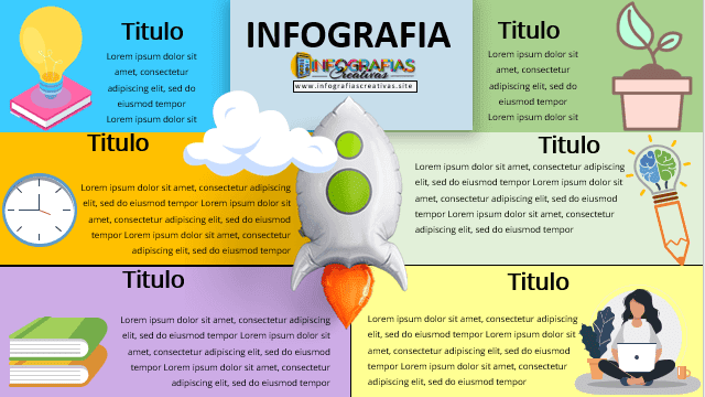 Plantilla infografía en PowerPoint Modelo 8
