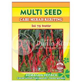 Benih Unggul Cabe Merah Keriting Pekarangan dan Hidroponik (Sempurna) Multi Seed