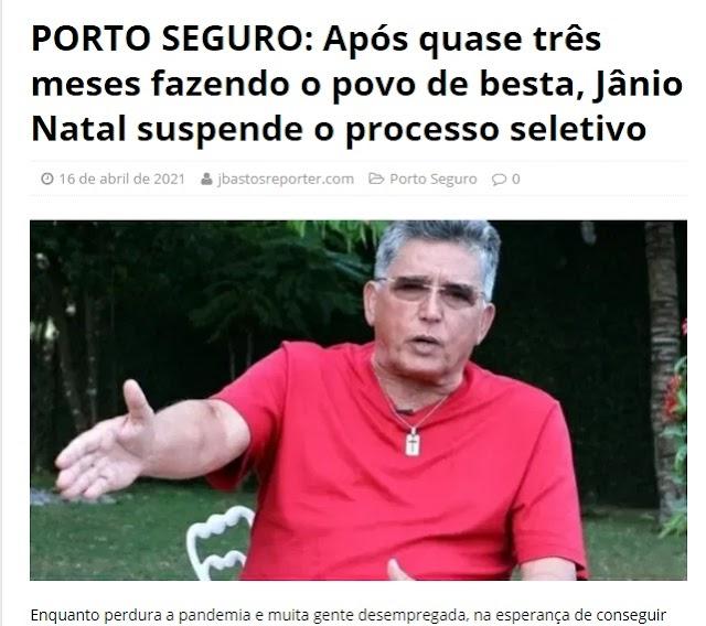 Jornalista diz que prefeito Jãnio Natal não tem coração e tá fazendo o povo de besta a quase três meses