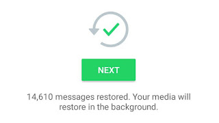 Messaged restored