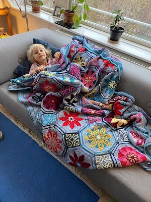 Hæklet tæppe, Tinna, Fiesta, Crochet blanket, Afghan