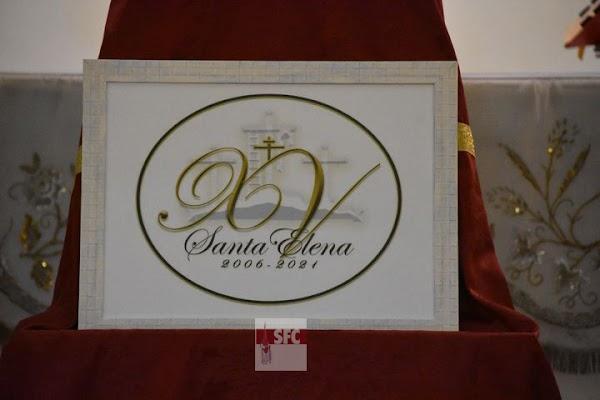 La hermandad de Santa Elena de San Fernando presenta el logotipo y el programa de actos del XV aniversario de la bendición de su titular