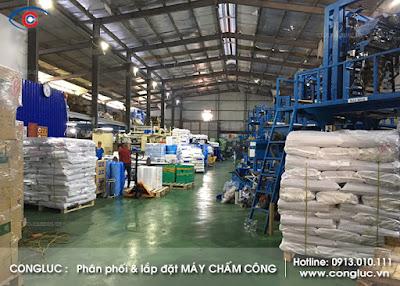 lắp máy chấm công nhà máy vina green huyện thủy nguyên