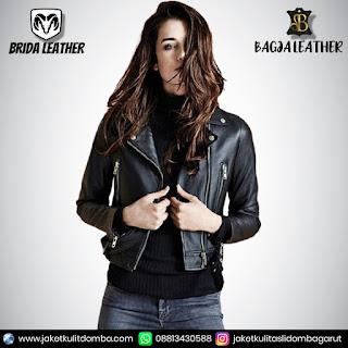 leather jacket wanita