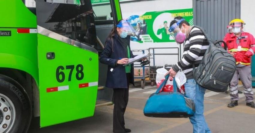 CORONAVIRUS: Así será el transporte interprovincial terrestre de pasajeros desde el 1 de marzo