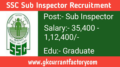 SSC Sub Inspector Examination