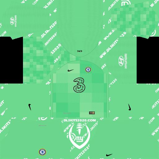 Chelsea Kits 2021-2022 Nike - Dream League Soccer 19 Kits (Home Goalkeeper)