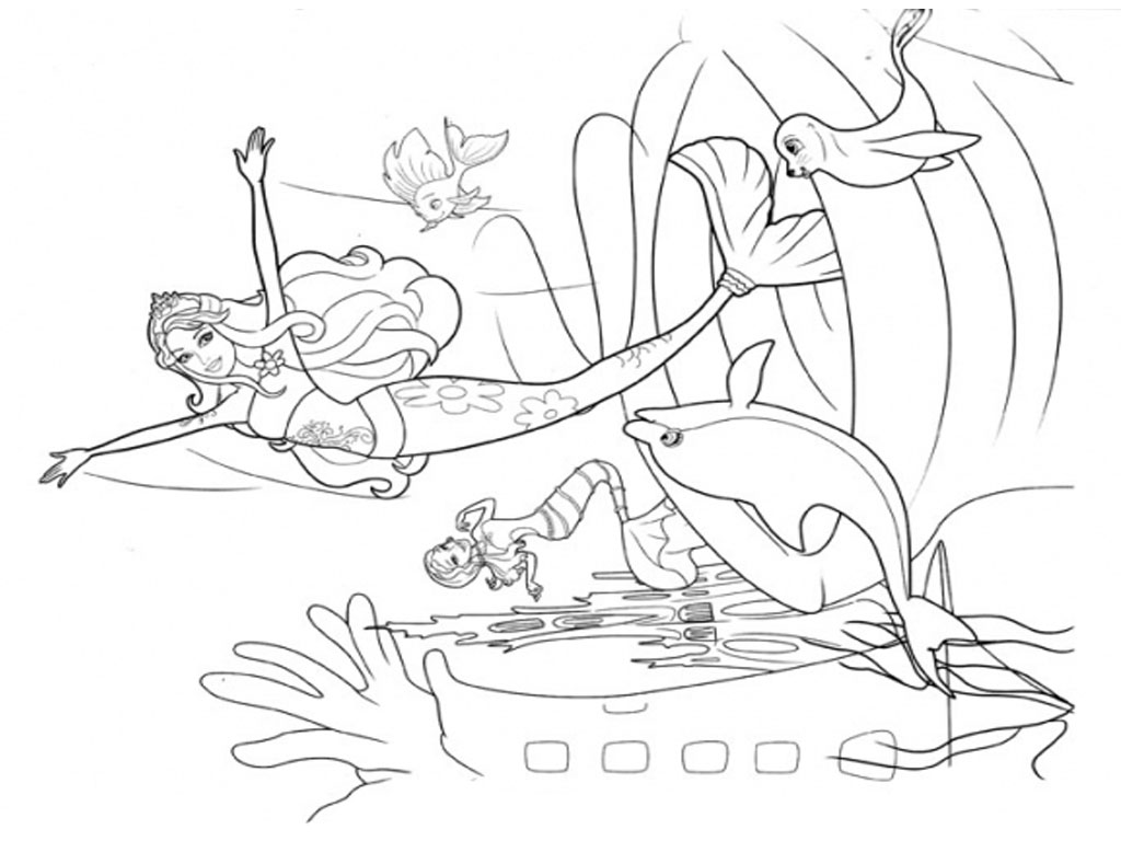 Barbie Coloring Pages For Girls Realistic Coloring Pages