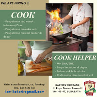We Are Hiring at Kartiko Heritage Surabaya Januari 2021