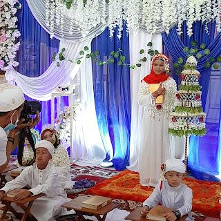 Payung bunga melati pelengkap acara batamat quran