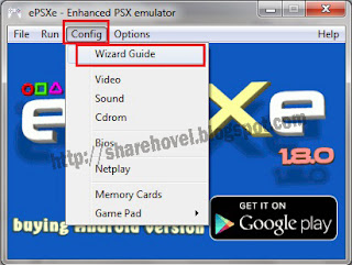 config wizar guide - Cara Setting Pengaturan Configuration ePSXe 1.8.0 by sharehovel
