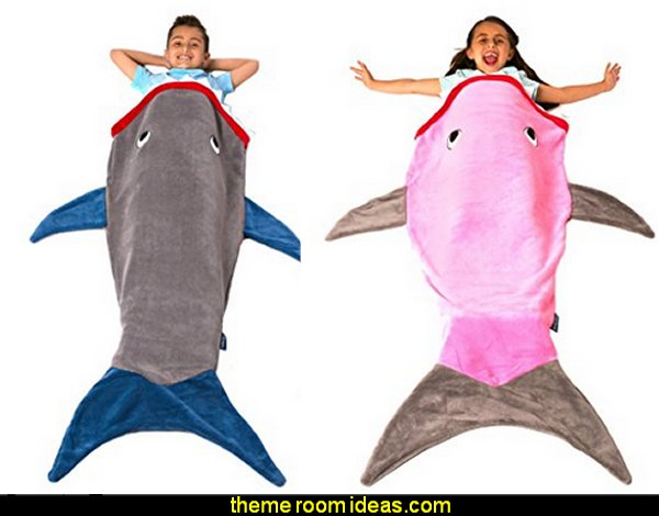 Blankie Tails Shark Blanket   Gift ideas - fun novelty gift shopping ideas - gift ideas - slippers - sleep wear - personalized gifts - cool stuff to buy