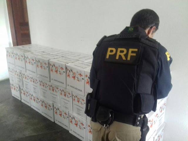 PRF apreende mais de 1.584 garrafas de vinhos por suspeita de fraude fiscal