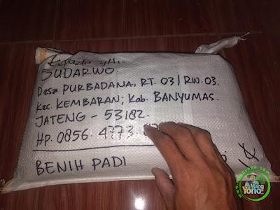 Benih Padi TRISAKTI Pesanan  SUDARWO Banyumas, Jateng  (Sesudah di Packing)