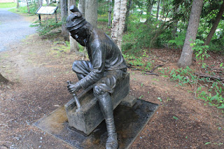 Statue from interpretive exhibit at St. Croix Island International Historic Site