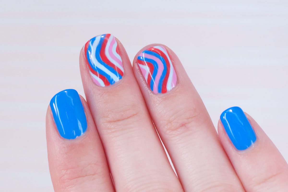 Gel Striped Nail Art Design