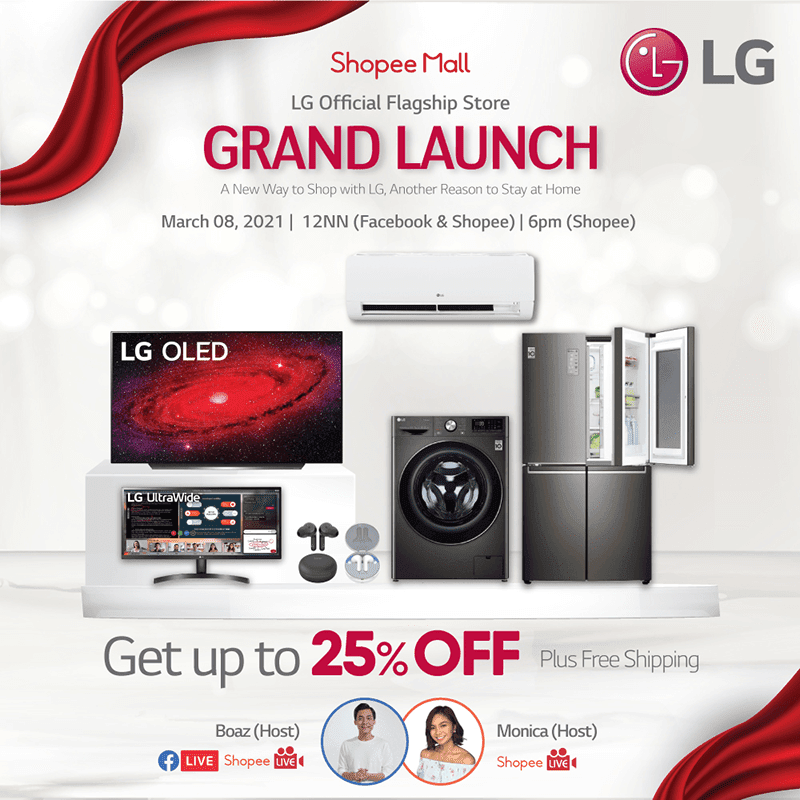 LG Philippines to launch its official store  in Shopee, big discounts on from March 8 to 19!