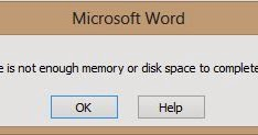 """Mengatasi """"There is not enough memory or disk space to complete the"""